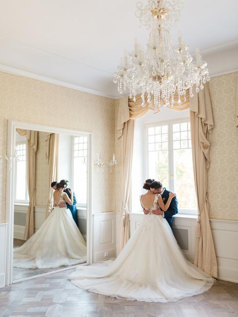 Art Hotel Kaštieľ Tomášov: svadobný pár v salóniku