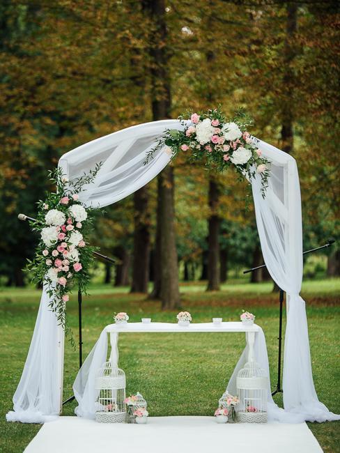 Park Hotel Tartuf: svadobný obrad na záhrade