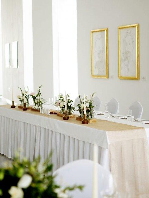 Elesko: hlavný svadobný stôl