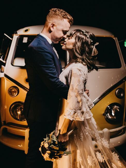 Svadobná výzdoba na auto: volkswagen