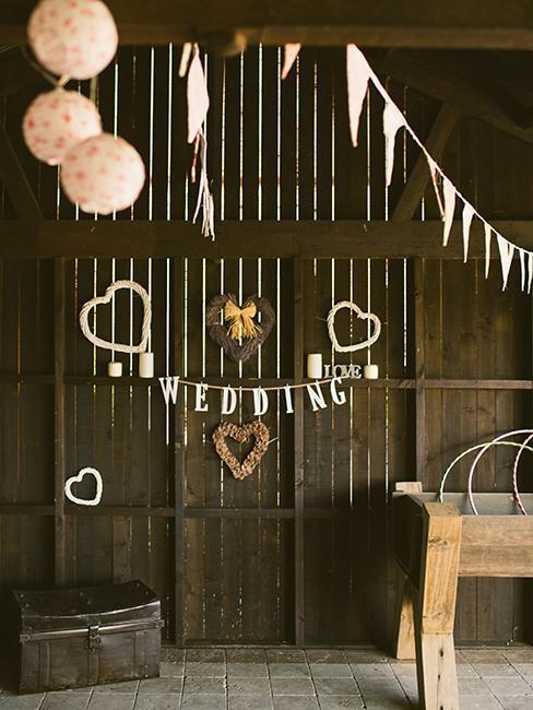 Vintage dekorácia na svadbu
