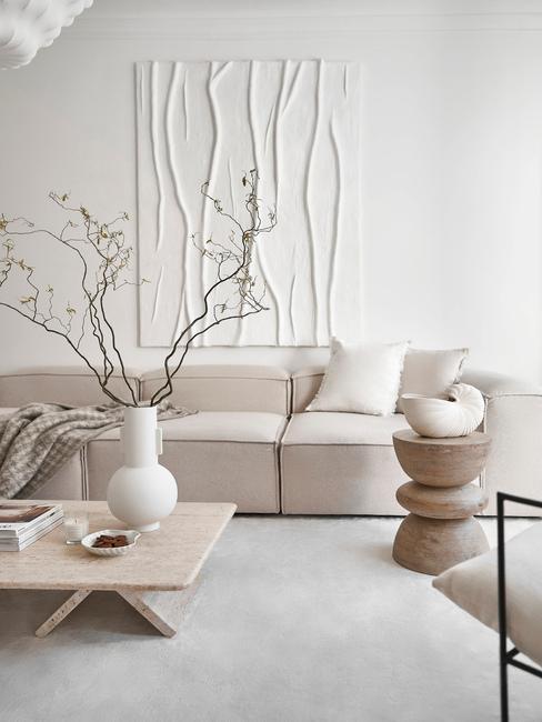 Škandinávsky štýl v obývačke