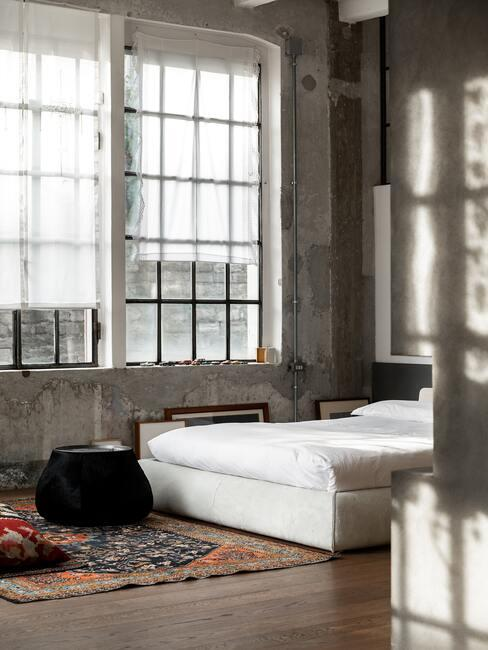 Industriálny štýl: spálňa