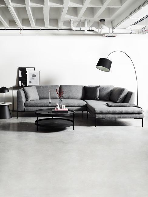 Industriálny štýl: obývacia izba