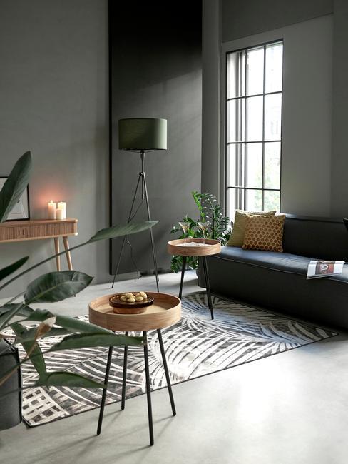 Obývačka v industriálnom dizajne