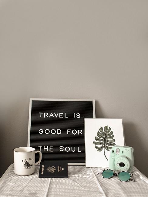 Zátišie cestovateľa