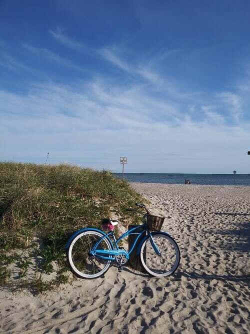 bicykel na pláži