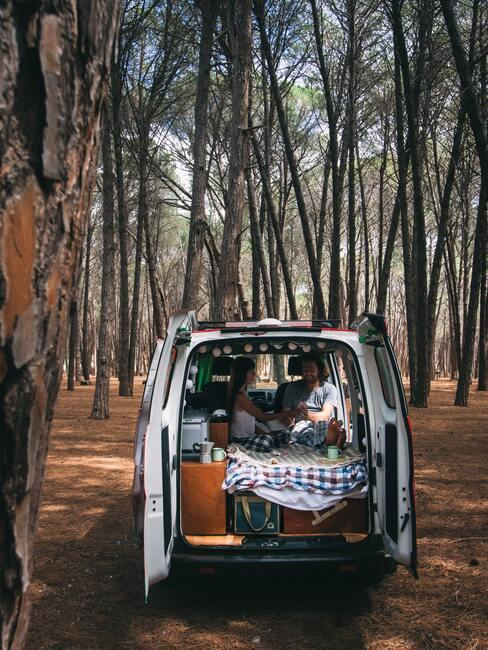 S karavanom v lese