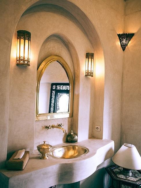 Kúpeľňa v zlatej farbe
