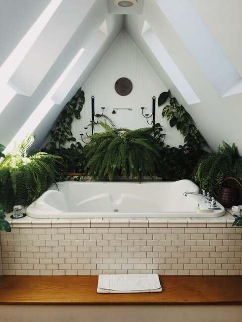 boho kúpeľňa
