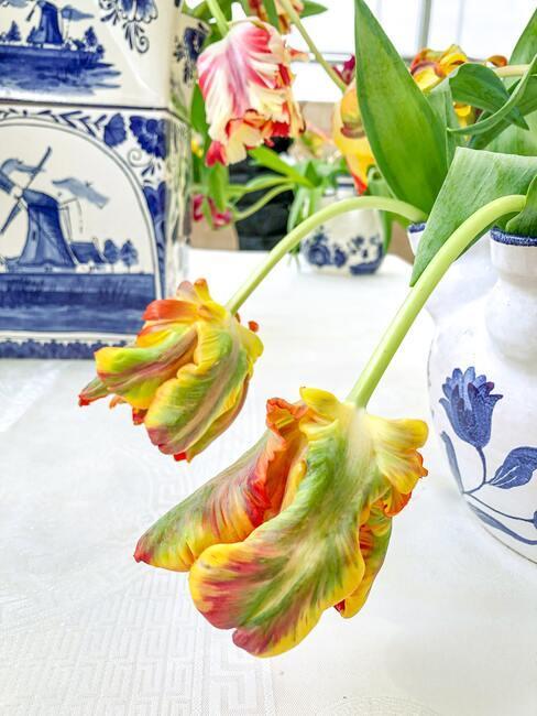 Žlté kvety na stole
