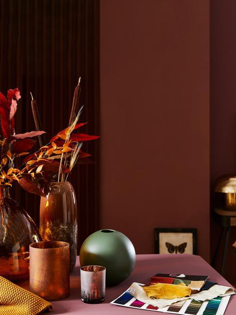 Jesenné farby a dekorácie na stôl