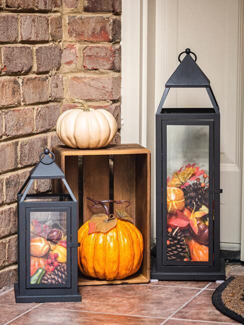 Jesenné dekorácie: lampáše