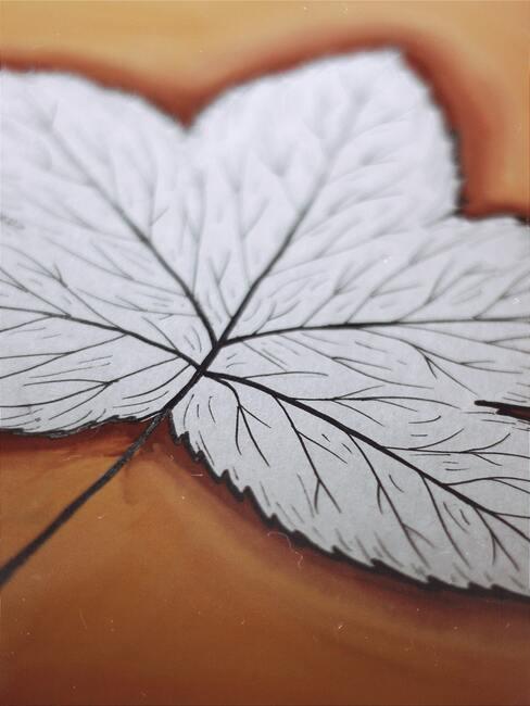 Papierová jesenná dekorácia