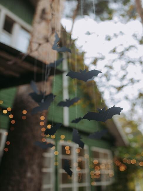 Netopiere ako halloween dekorácie