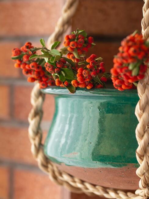 Závesná jesenná dekorácia do exteriéru