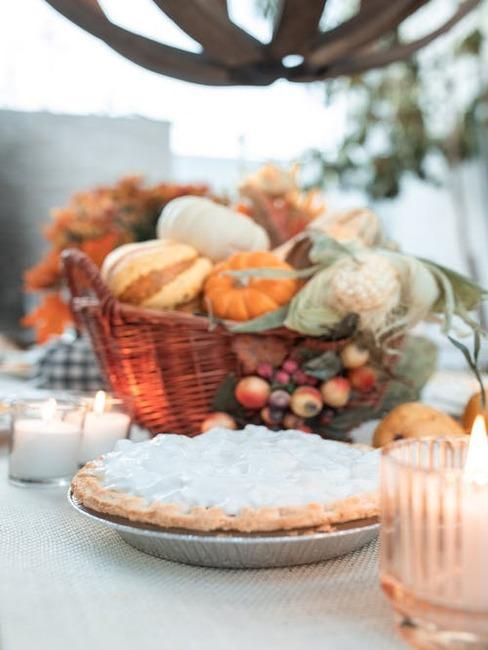 jesenné aranžovanie stola