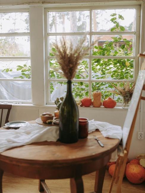 jesenný stôl