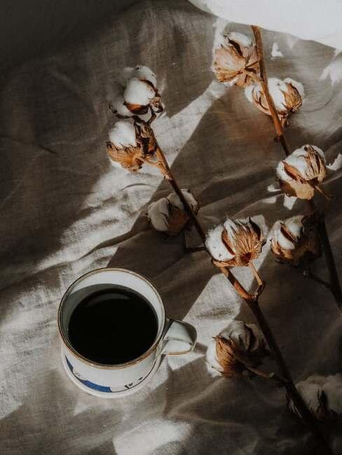 jeseň a káva