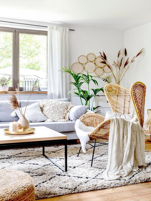 príjemné aranžovanie v obývačke