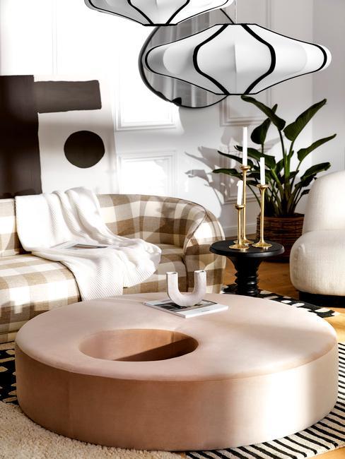 Osvetlenie v obývacej izbe: luster