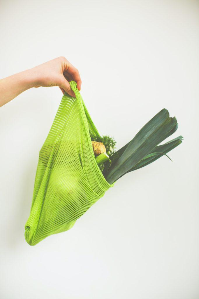 Recyklovateľné vrecúško na potraviny alebo bio odpad