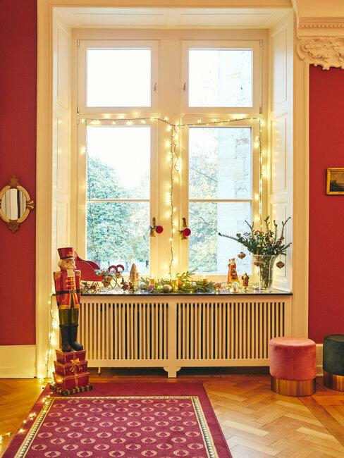 Svetelná vianočná výzdoba na okná a vianočné dekorácie