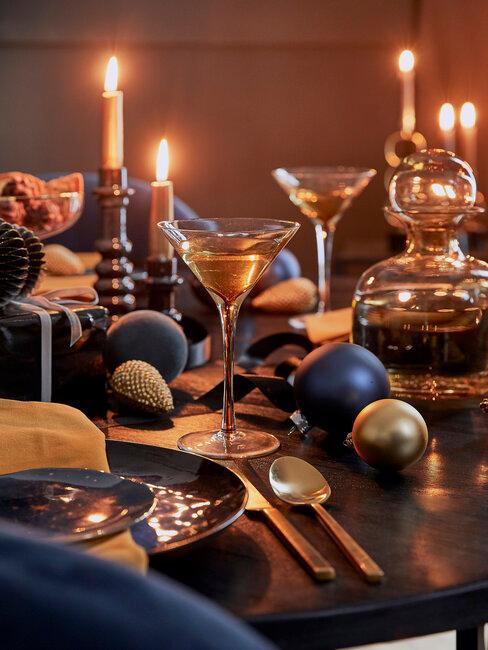 Vianočný stôl so sklom