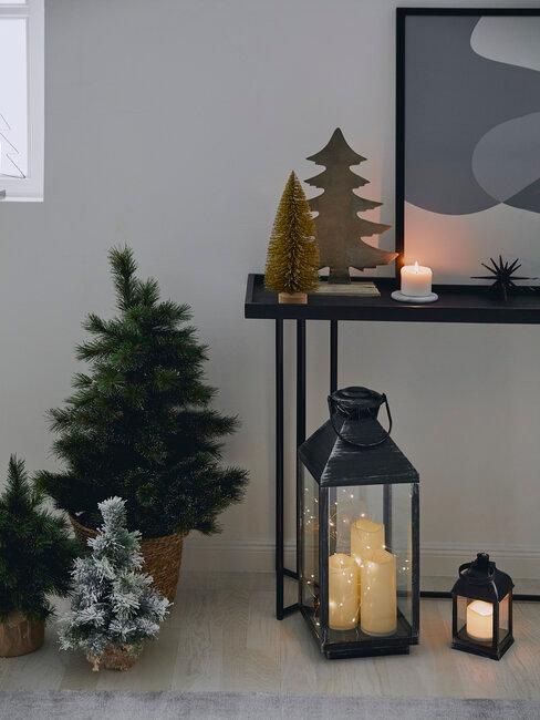 Vianočné svetielka a stromčeky