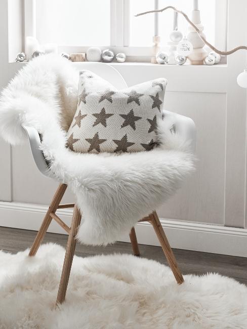 vianočná výzdoba na okná v bielom prevedení
