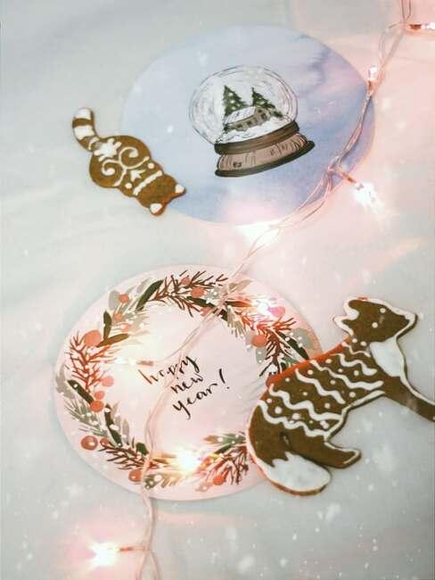 vianočné ozodoby na stôl