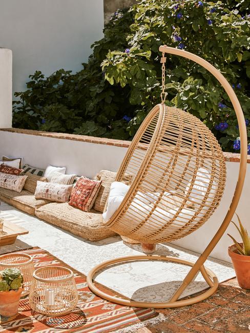 Bambusový balkónový nábytok