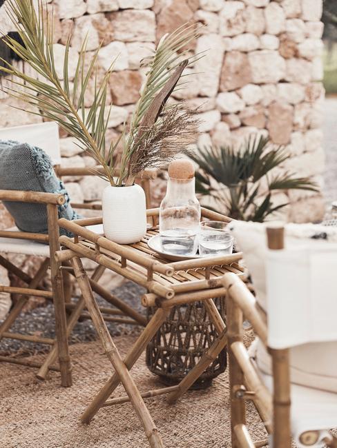 Záhradný nábytok: bambus