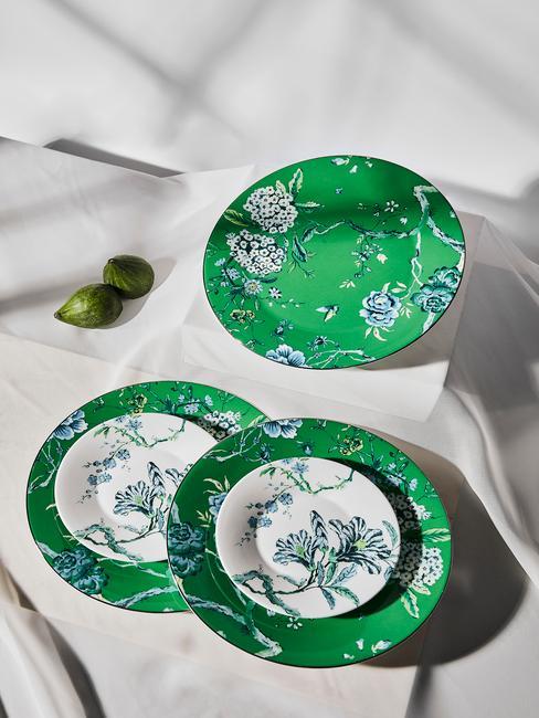 Porcelánový riad v zelenej farbe