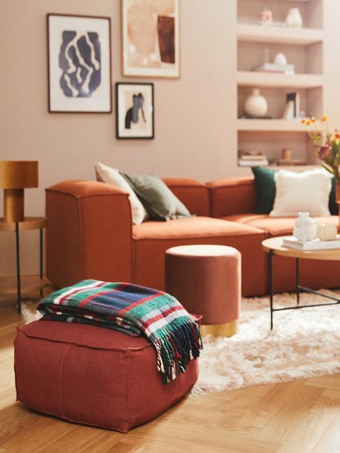 Obývačka v jesenných farbách