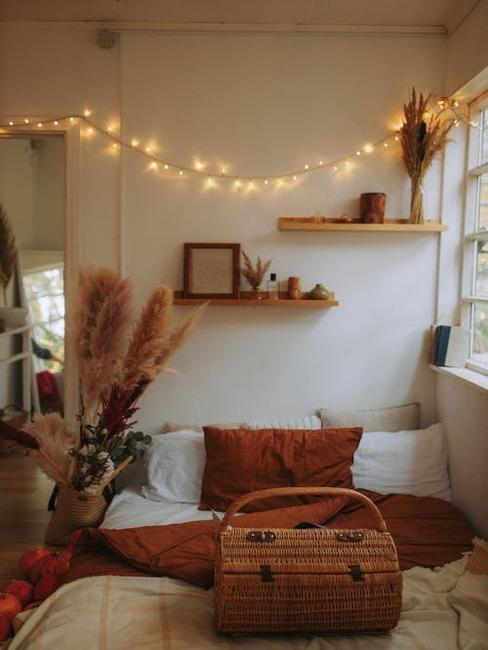 Výzdoba na jeseň a svietielka