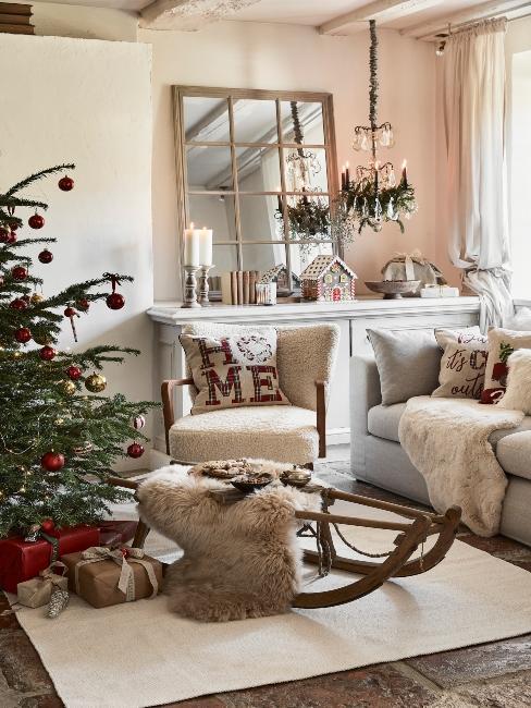 vianočná výzdoba vidieckeho štýlu