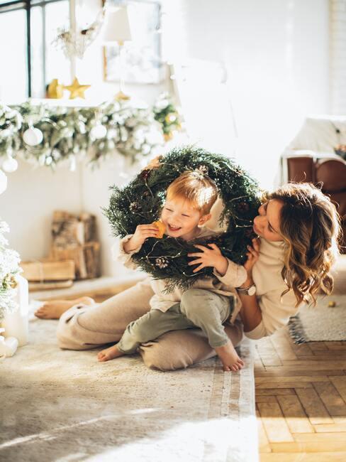Vianoce s deťmi: veniec