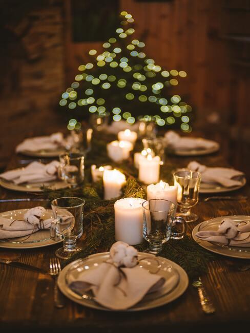 Adventný veniec na stôl
