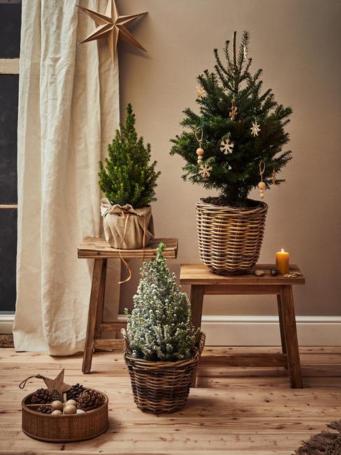 Prírodné vianočné stromčeky DIY