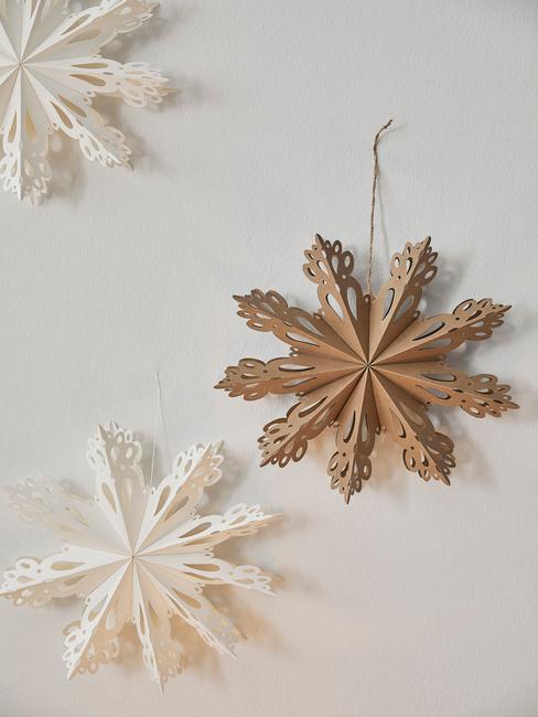 Papierové vianočné dekoráciie