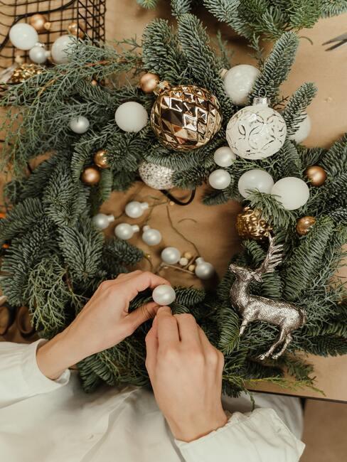 tvorba vianočného venca