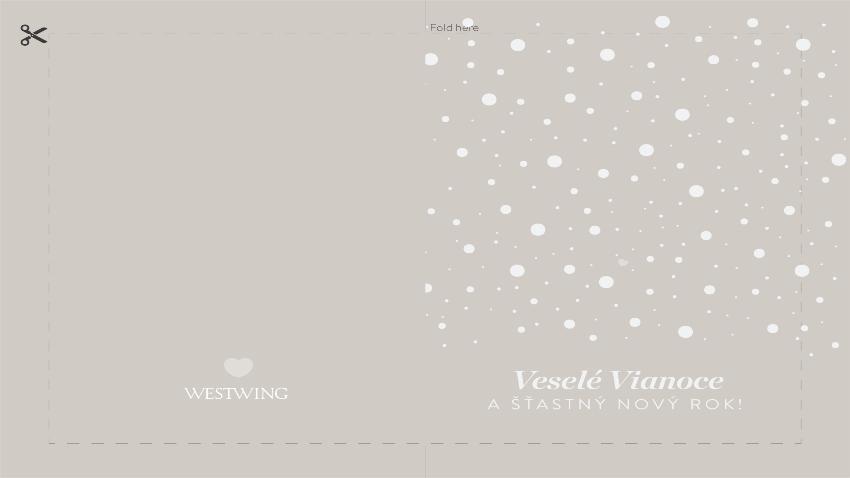 vianočná pohľadnica: Veselé Vianoce a šťastný Nový Rok!