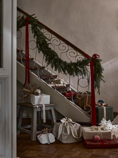 vianočné darčeky pre rodičov na schodoch