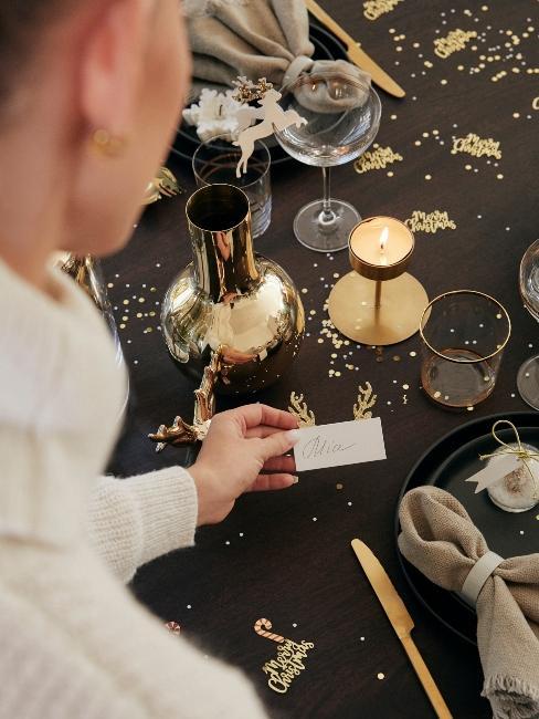 menovky na oslavu na vianočný stôl