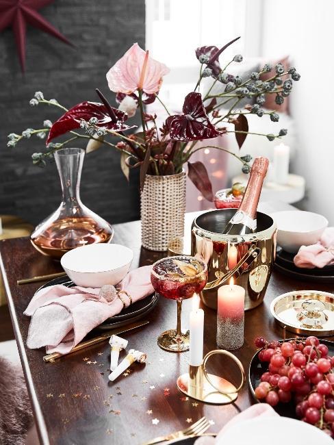 príprava stola na oslavu