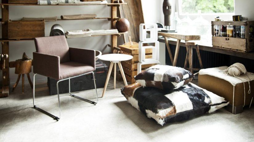 stylové polštáře na podlahu 80 x 80