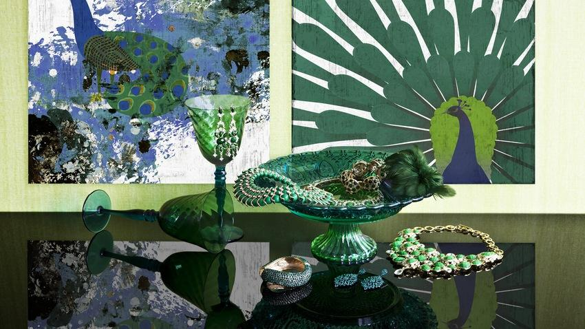 Zelené dekorace