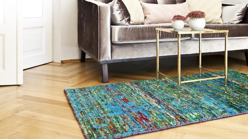 Tyrkysový koberec
