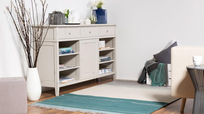 stylový tyrkysový koberec